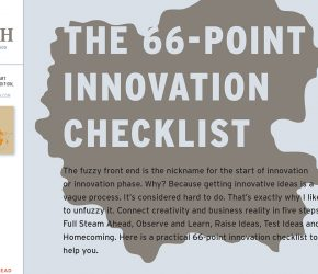 66 point innovation checklist | Atelierul de idei