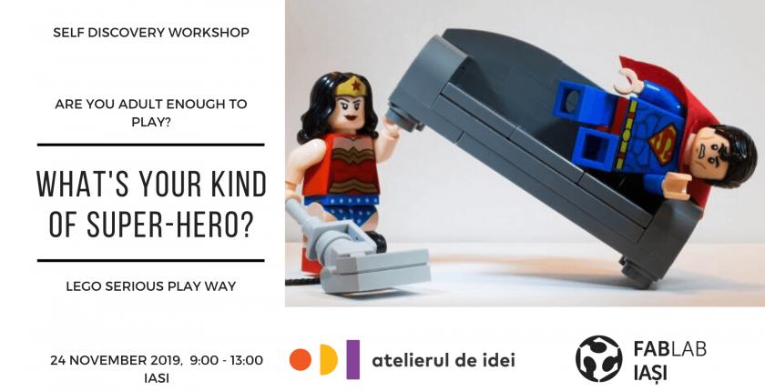 Lego Serious Play Atelierul de Idei workshop super hero